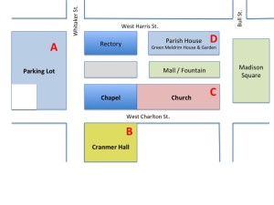 St. John's Church Building Map